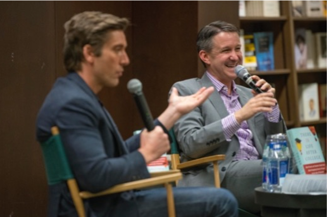 Jeff at a book reading