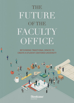 The Future of the Faculty Office Cover with professors gathered in an imaginary breakroom