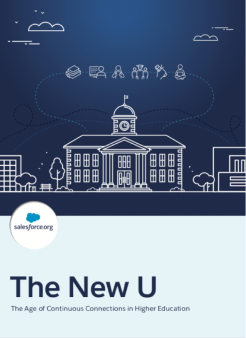 The New U Cover Featuring a blueprint of a college building