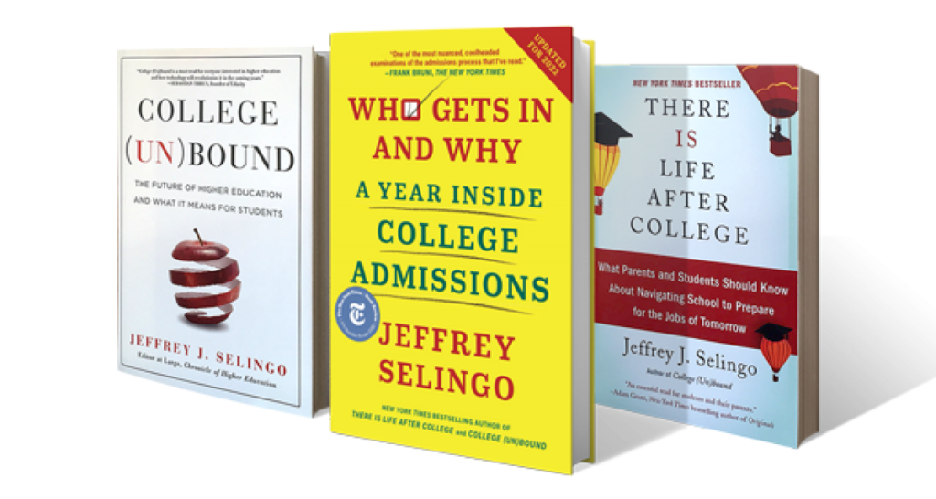 Three of Jeffs Books lined up in perspective
